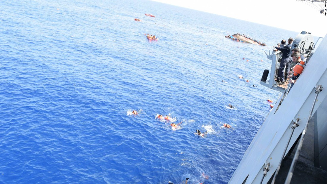 Thousands of migrants have died in the Mediterranean when their ships broke up or capsized.