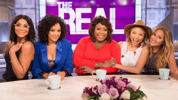 """Tamar Braxton, Tamera Mowry-Housley, Loni Love, Jeannie Mai and Adrienne Bailon hosted """"The Real"""" for two seasons."""