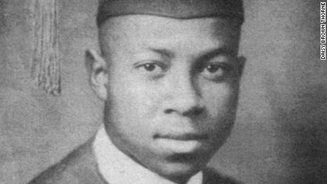 Brown's 1944 high school graduation photo. He was such a brilliant student that one of his instructors let him teach when she was busy with other work.