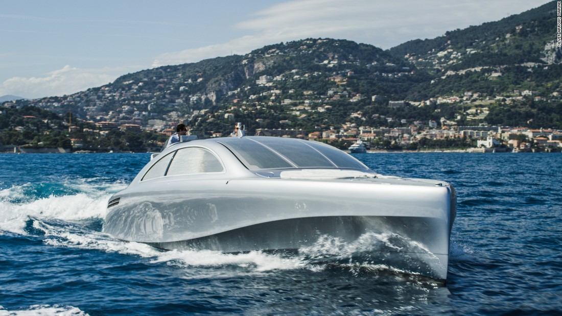 "Nicknamed ""Silver Arrow of the Seas,"" the 14-meter yacht, which can accommodate up to 10 people, is powered by a 960-horsepower engine and can reach speeds of up to 40 knots (46 mph)."