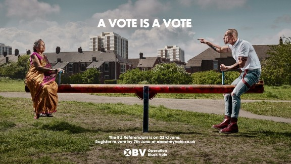 Operation Black Vote has released controversial posters encouraging minority ethnic groups to vote in the upcoming EU referendum.
