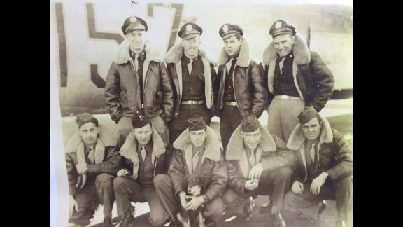 """Crew members of """"The Lonesome Lady,"""" an American B-24 bomber. Five airmen crashed and became POWs in Hiroshima, later dying in the atomic bomb attack."""