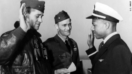 Brown was sworn in as an officer in April 1949.