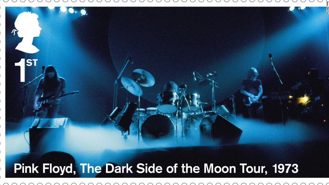 "Pink Floyd seen during ""The Dark Side of the Moon"" Tour in 1973"