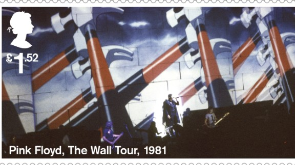 """The Wall"" Tour animation, 1981.During the performance, these animations were projected onto a 40-foot high wall of cardboard bricks which was gradually built between the band and audience."