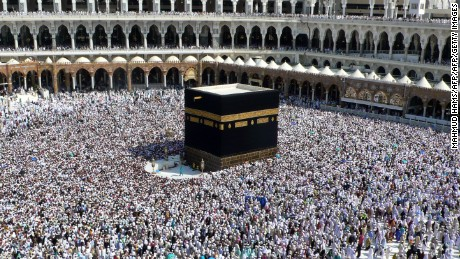 Muslim pilgrims perform the final walk around the Kaaba (Tawaf al-Wadaa) at the Grand Mosque in the Saudi holy city of Mecca on November 30, 2009. The annual Muslim hajj pilgrimage to Mecca wound up without the feared mass outbreak of swine flu, Saudi authorities said, reporting a total of five deaths and 73 proven cases. AFP PHOTO/MAHMUD HAMS (Photo credit should read MAHMUD HAMS/AFP/Getty Images)