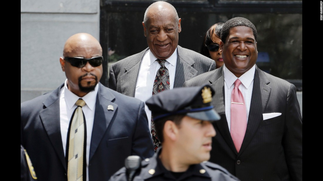 "Comedian Bill Cosby, back center, leaves a courthouse in Norristown, Pennsylvania, after a preliminary hearing on Tuesday, May 24. Cosby <a href=""http://www.cnn.com/2016/05/24/us/bill-cosby-hearing/"" target=""_blank"">faces three counts of felony aggravated indecent assault</a> from a 2004 case involving Andrea Constand, an employee at his alma mater, Temple University. She was the first of more than 50 women who have accused Cosby of sexual misconduct. Cosby has denied the allegations."