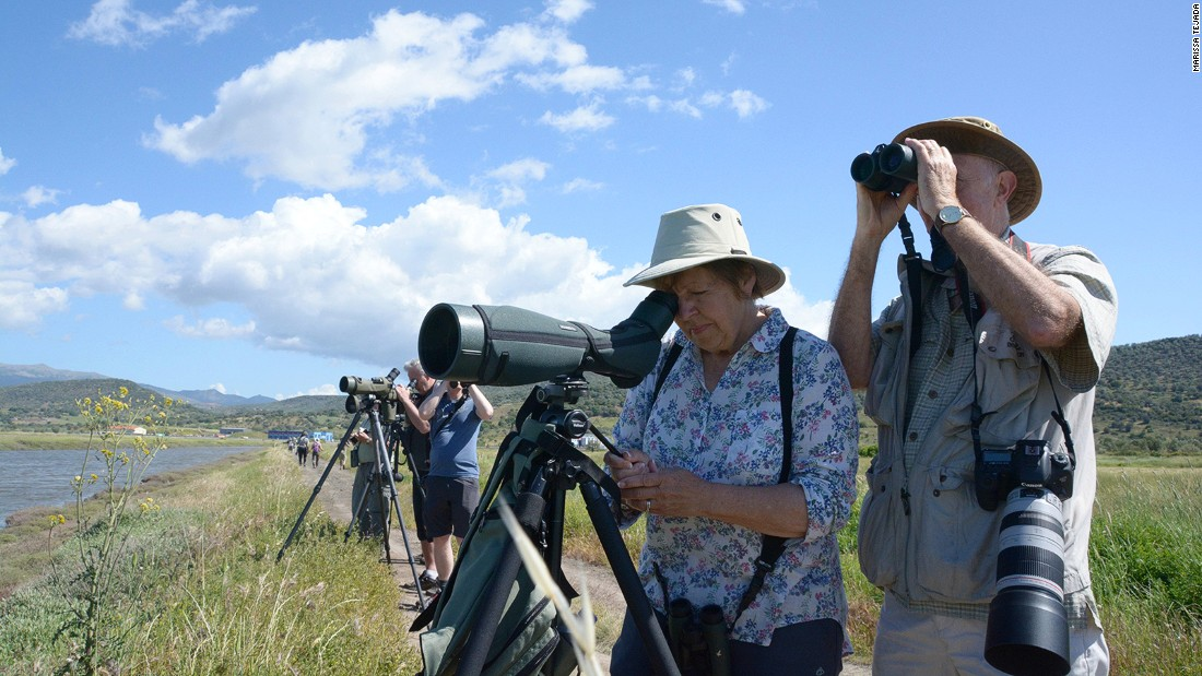 In spring, Lesbos is usually one of the hottest birdwatching spots in Europe. This year, Gill Greenhall and her husband Mel are among the few making the trip. They've been enjoying annual bird-watching vacations on the island for more than a decade.
