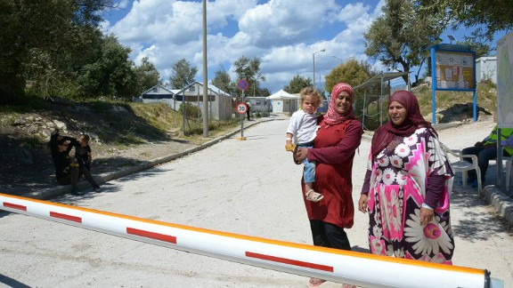 Lesbos is learning to cope with its new arrivals. Most are settled in the Kara Tepe refugee camp in Mytilene, which is guarded day and night.