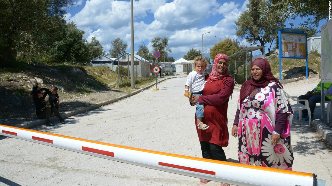 Lesbos is learning to cope with its new arrivals. Most are settled in the Kara Tepe refugee camp in Mytilene, which is guarded day and night.<br />