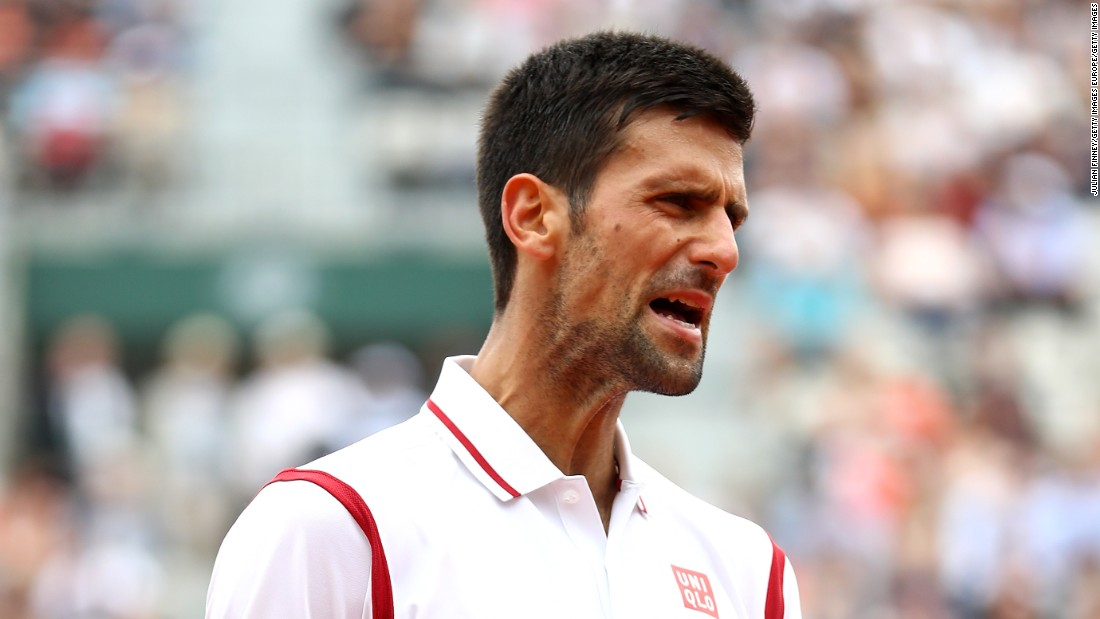 Djokovic, bidding for a first French Open crown, also became annoyed when Darcis struck winning drop shots.