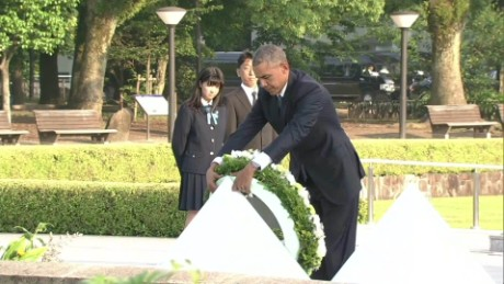 US President Barack Obama during a visit to Hiroshima in May.