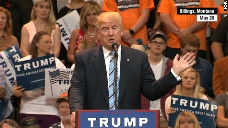 Donald Trump in Billings, Montana on May 26.