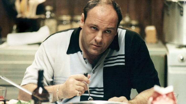 """James Gandolfini as Tony Soprano in HBO's """"The Sopranos."""""""