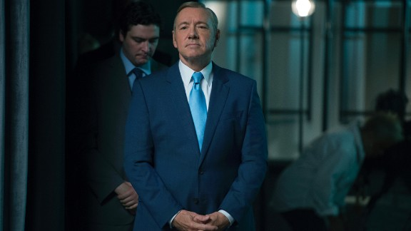 """Kevin Spacey plays Francis Underwood, the antihero in chief, on """"House of Cards."""""""