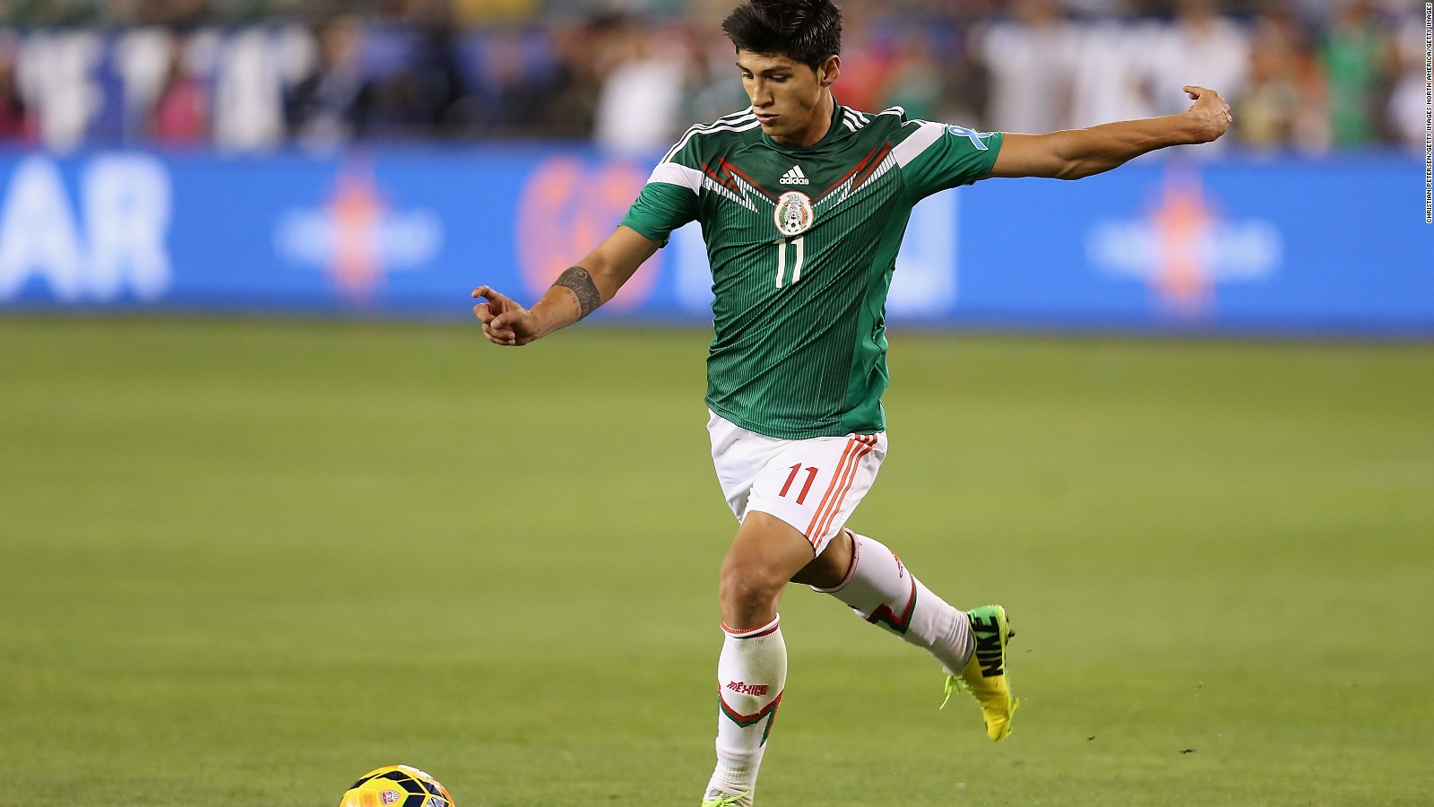 Mexican Playing Soccer