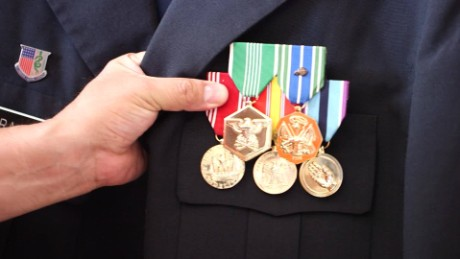 Deported veteran Hector Barajas still wears the medals he earned serving in the US military.
