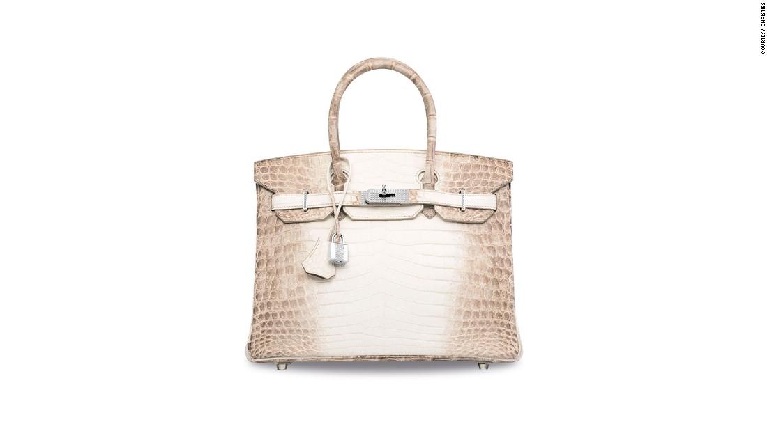 8c1696682cf The most expensive handbag ever sold - the Diamond Hermes handbag - CNN  Style