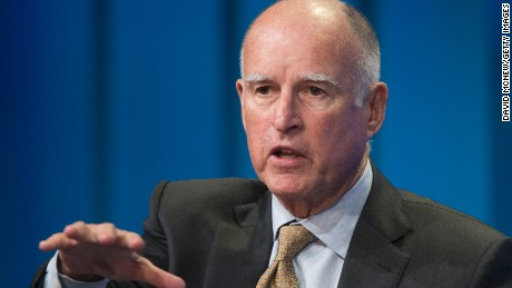 California governor Jerry Brown talks about new efforts to cope with climate change during a panel discussion at the 18th annual Milken Institute Global Conference on April 29, 2015 in Beverly Hills, California.
