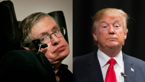 Theoretical physicist Stephen Hawking says he can't explain Donald Trump's political rise.