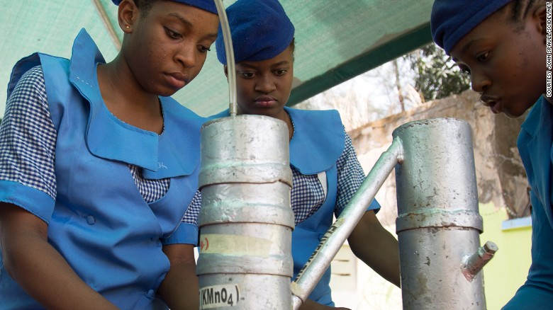 Young girls in Nigeria have built robots to tackle waste as part of the Odyssey Educational Foundation after school program. Since 2009, Boko Haram attacks in the region have partly been aimed at discouraging girls from pursuing education.
