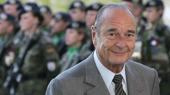 Jacques Chirac served as the French president from 1995 to 2007.