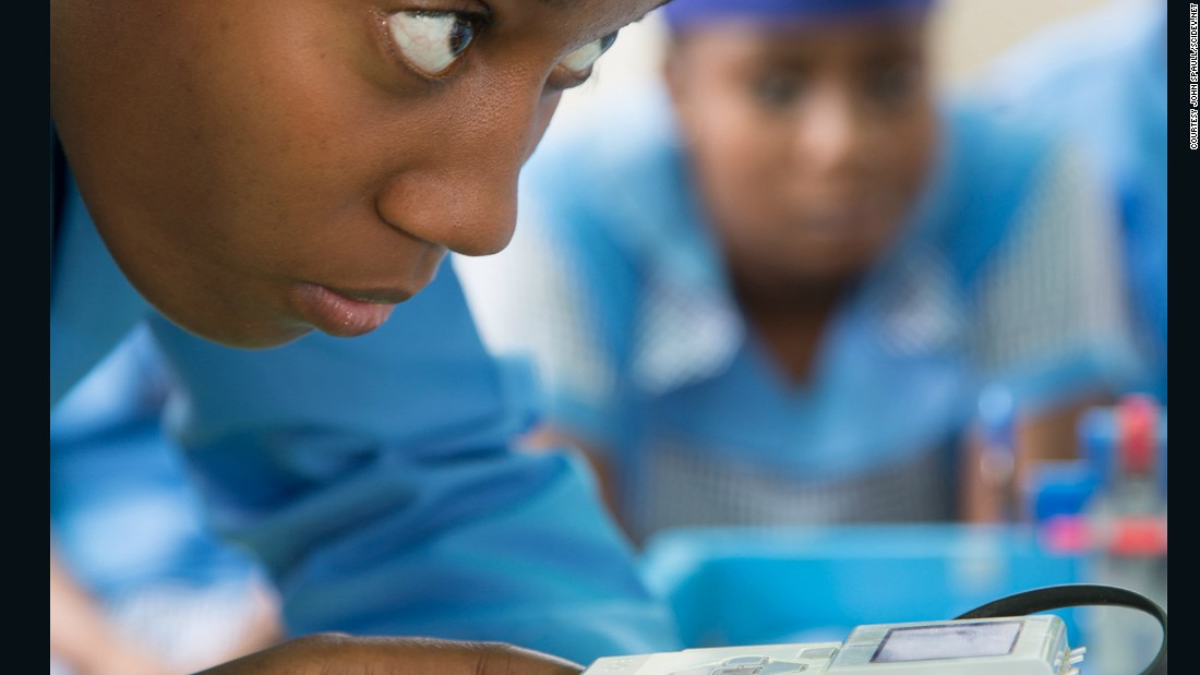 """State schools in Nigeria are often understaffed and they are not able to pay for the kits to learn robotics"", Uzochukwu says. Therefore Odyssey Foundation provides the robotics kits for free. It aims to teach kids to write apps, repair laptops, desktop computers and mobiles. ""So when the children finish school they will not be roaming on the streets,"" says Uzochukwu, ""because this is what happens to these kids once they finish school they end up on the streets""."