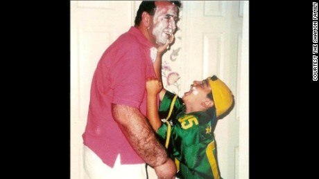 Marty Shamon with his dad, who died of cancer when Shamon was 10.