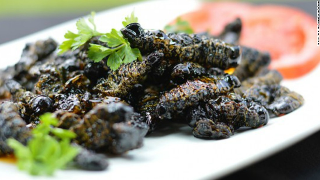 "<a href=""http://www.zimbokitchen.com/sweet-chilli-lemon-amacimbi-mopane-worms/"" target=""_blank"">Amacimbi (mopane worms)</a> are popular in  Zimbabwe. Here they have been given a modern twist, cooked with sweet chilli sauce and fresh lemon."