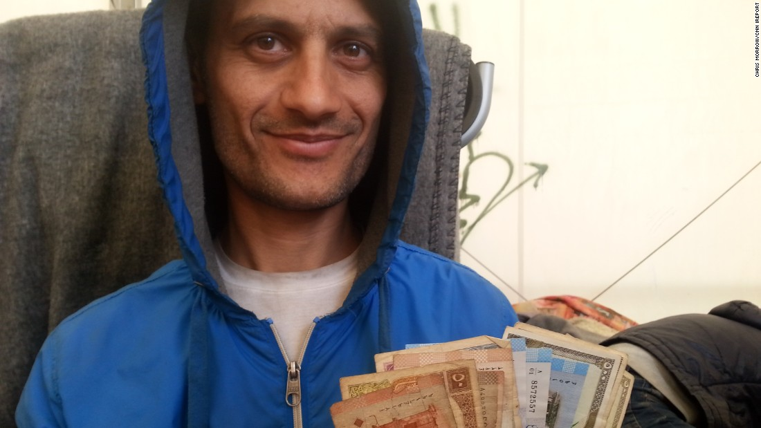 Syrian money reminds former Idlib resident Nael where he came from.