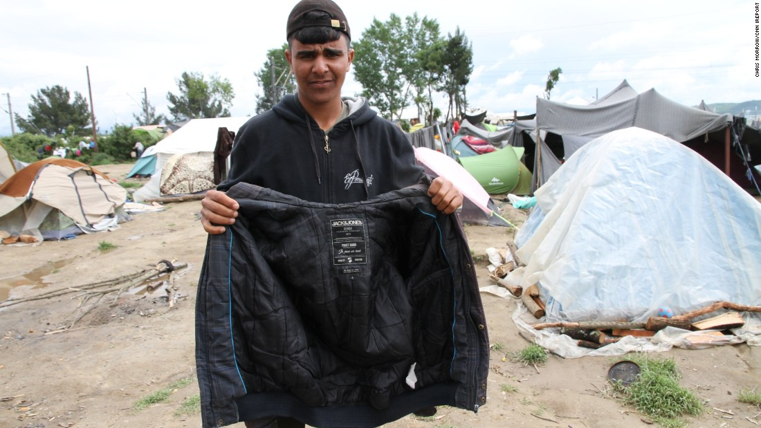 Obeda was told he could bring only what he could wear, so he took his jacket.