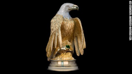 Diamond encrusted golden eagle valued in the millions, stolen on Vancouver street