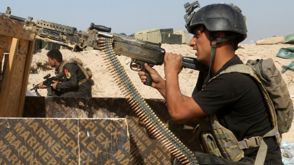 Iraqi counterterrorism forces face off with ISIS militants in Falluja