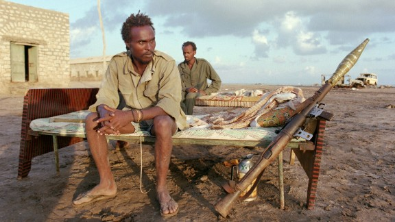 Rebels of Somali National Movement (SNM) sit on their beds in November 1989 in Leila, northern Somalia.