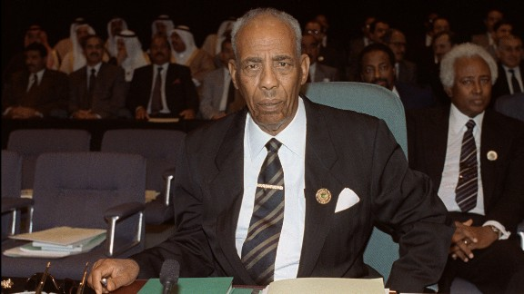 Somali President Mohamed Siad Barre in May 1990.