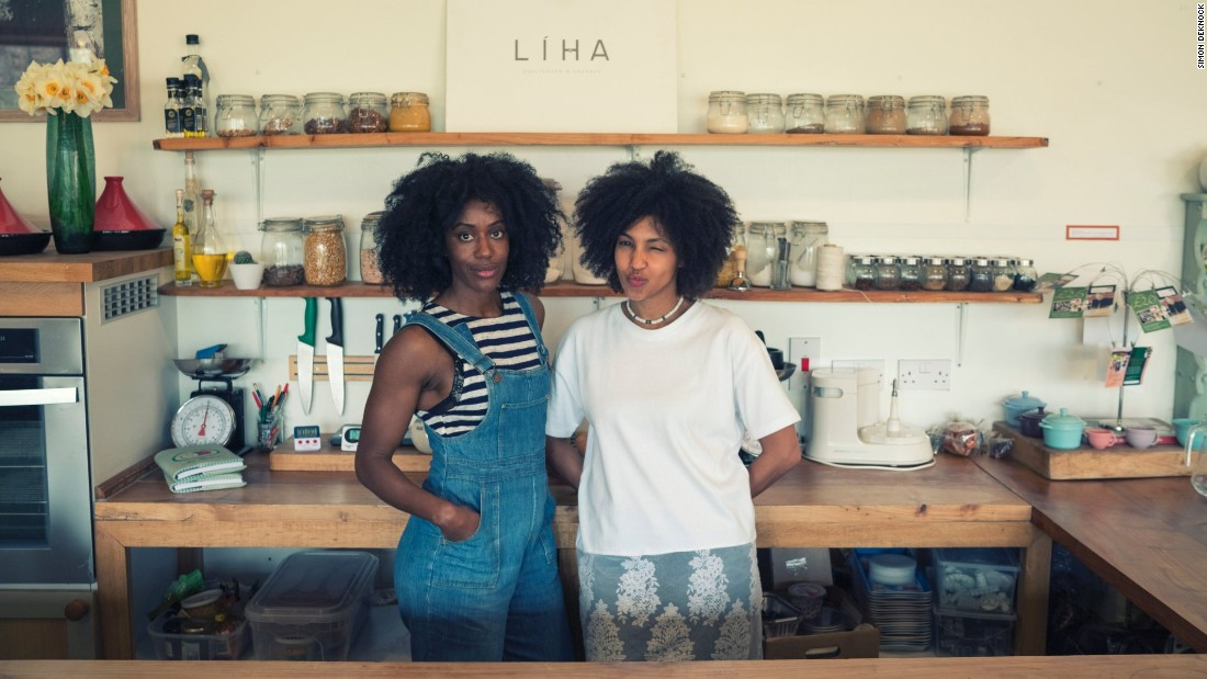 """People needed to get used to the idea of it being 100% natural and organic and learn how to use it from scratch,"" explains Okunniwa (right). ""It's a great skill to be confident using essential oils, experimenting and having fun in your kitchen."""