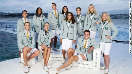 The Australian team uniform was unveiled in Sydney in March.
