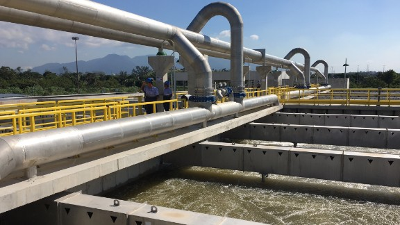 A new sewage treatment opened last week will provide services to several hundred thousand Rio residents.