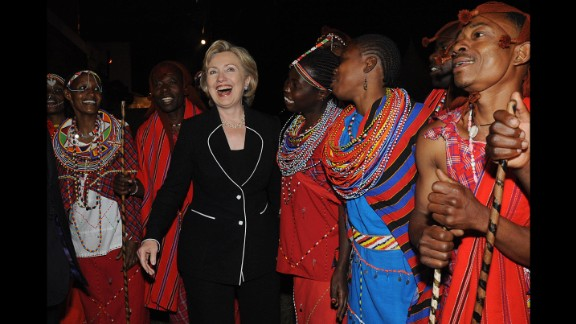 Clinton joins some of Kenya
