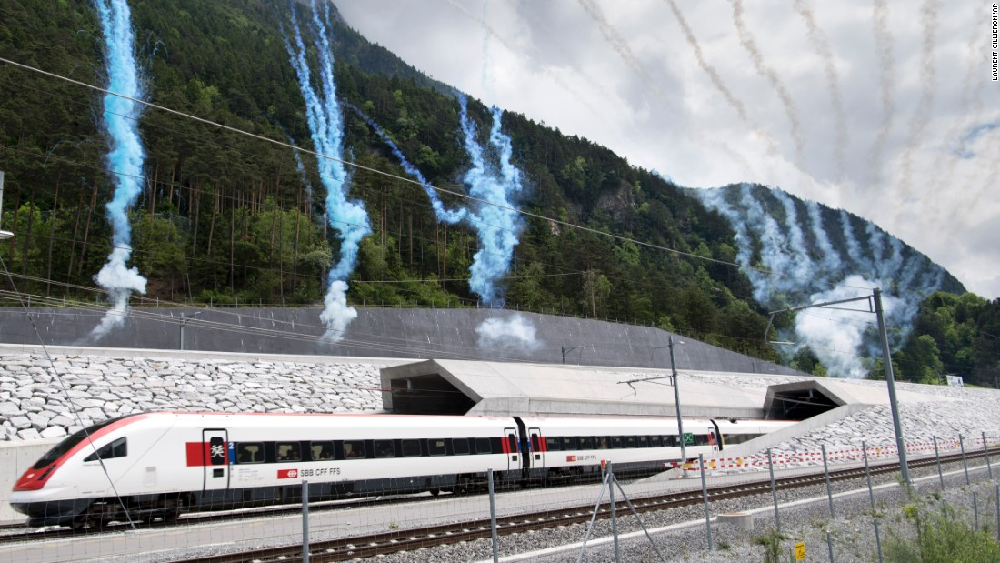 "The first train comes out of the new Gotthard Base Tunnel on Wednesday, June 1, <a href=""http://www.cnn.com/2016/06/01/europe/switzerland-longest-tunnel-gotthard/"" target=""_blank"">the tunnel's opening day.</a> The 35-mile-long tunnel beneath the Swiss Alps is the world's longest, deepest tunnel. Construction started 17 years ago. <a href=""http://www.cnn.com/2016/05/27/world/gallery/week-in-photos-0527/index.html"" target=""_blank"">See last week in 33 photos</a>"