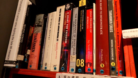 The museum also sells a large collection of political books, many of which are banned in mainland China.