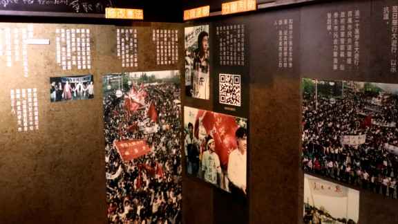 Exhibits include original newspaper and magazine clippings about the massacre, and mementos of those killed donated by their families.