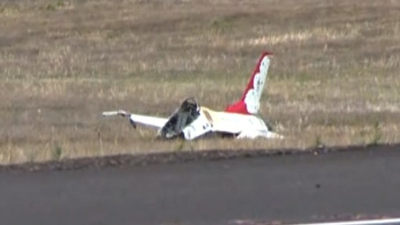 A Thunderbird crashed outside Colorado Springs just after the Colorado Springs, Colorado, performance Thursday.