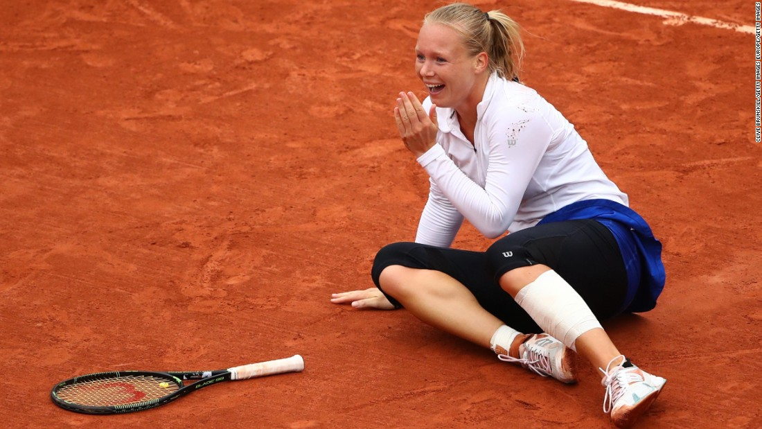 The American, seeking to win her 22nd grand slam title and equal Steffi Graf, will next face another outsider -- Kiki Bertens (pictured) -- in the semifinals.