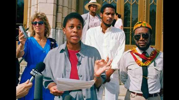 Lenora Fulani ran for president in 1988 and 1992 as a candidate of the New Alliance Party. Here, she holds a news conference at Atlanta City Hall in July 1988.