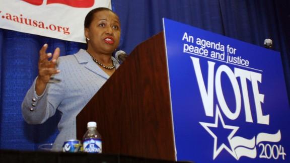 Former Sen. Carol Moseley-Braun  of Illinois sought the 2004 Democratic presidential nomination.