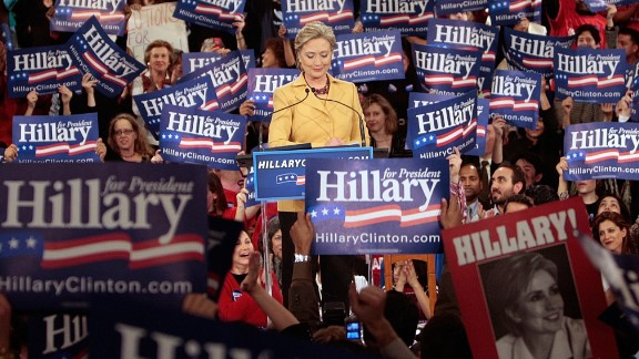"""Hillary Clinton, the presumptive Democratic nominee for 2016, noted in 2008 that the glass ceiling had """"18 million cracks in it"""" -- a reference to the number of votes she received in the 2008 Democratic primary before conceding the race to Barack Obama."""