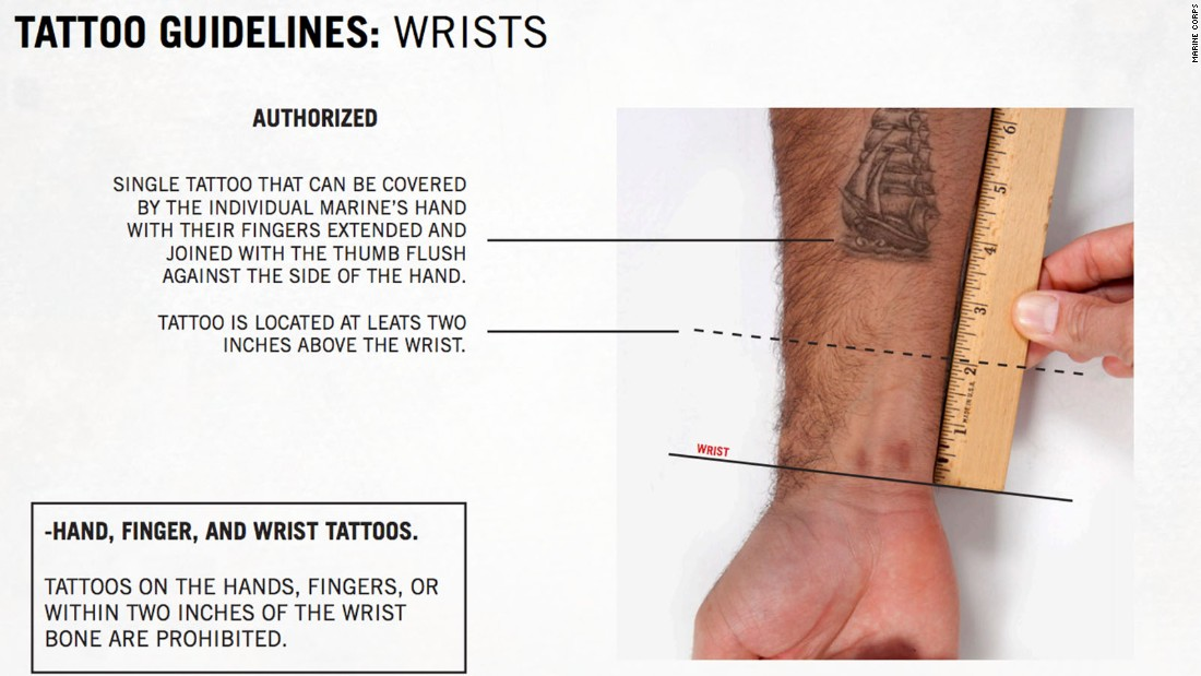 Marines ink new tattoo rules cnnpolitics for Army tattoo regulations 2017