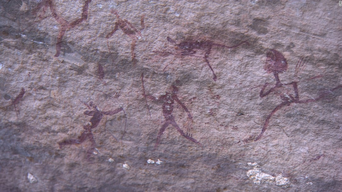 Pieter Jolly, an authority on rock paintings of the San, says that the purpose of much of the art is to represent what shamans would have seen when in a trance state. The purpose of the trance was to fight evil spirits bringing discord into the community.