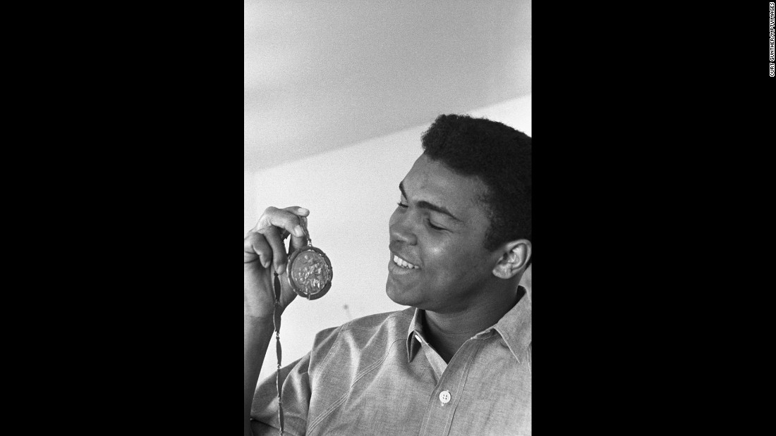 Cassius Clay in 1963 at his Louisville home.